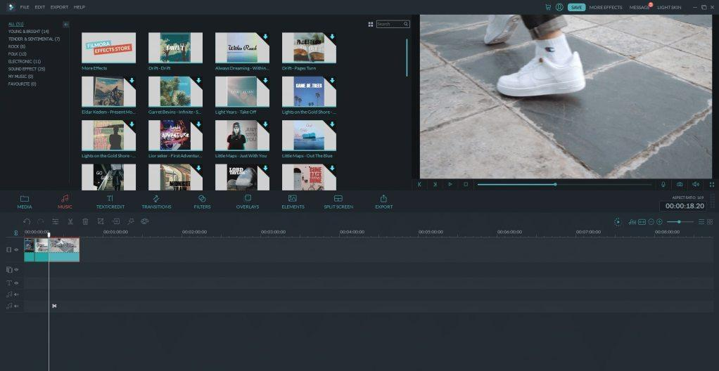 Import and export of the video files