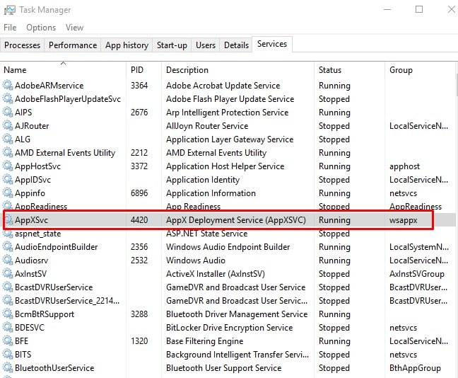 appx deployment service