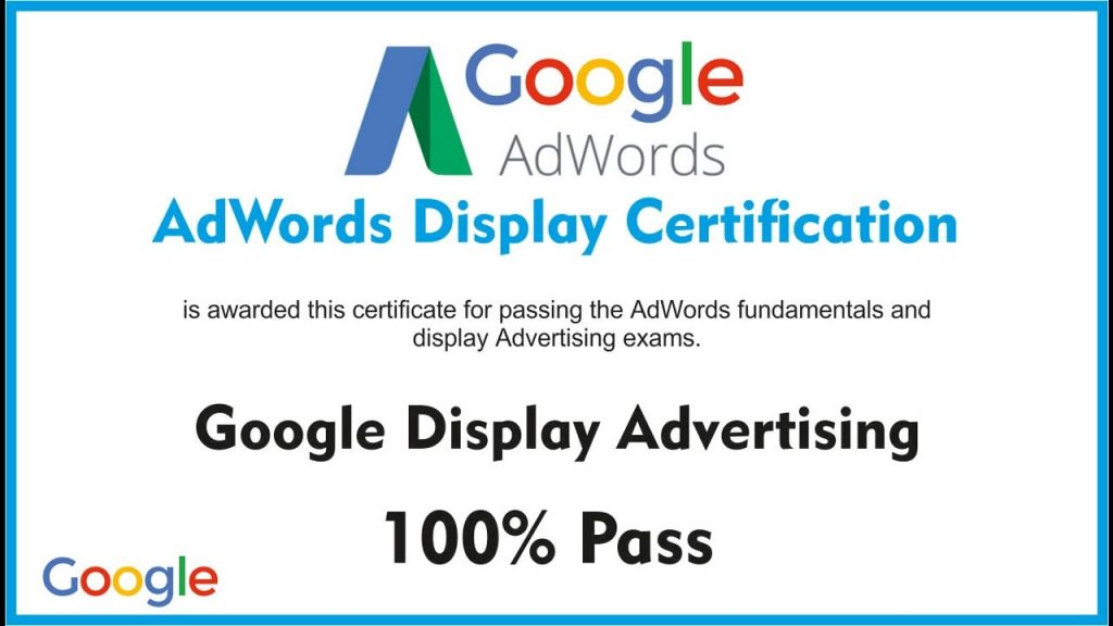 google display advertising certification